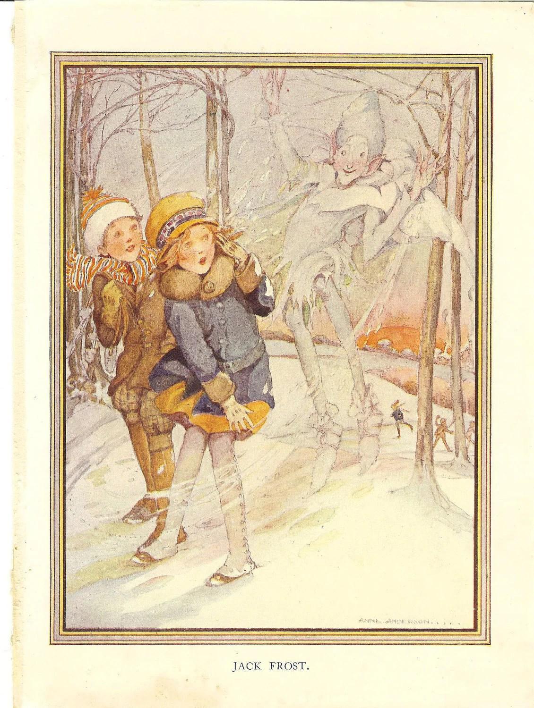 Vintage Original Anne Anderson Childrens Print Jack Frost 1925