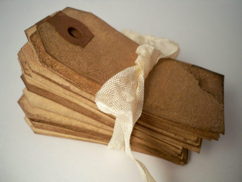 Items Similar To 400 SMALL Hang Tag Gift Tag. Vintage