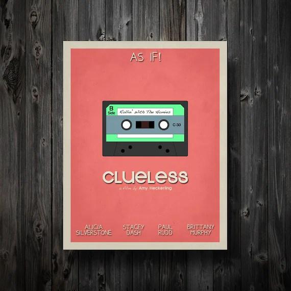 clueless movie film poster wall art