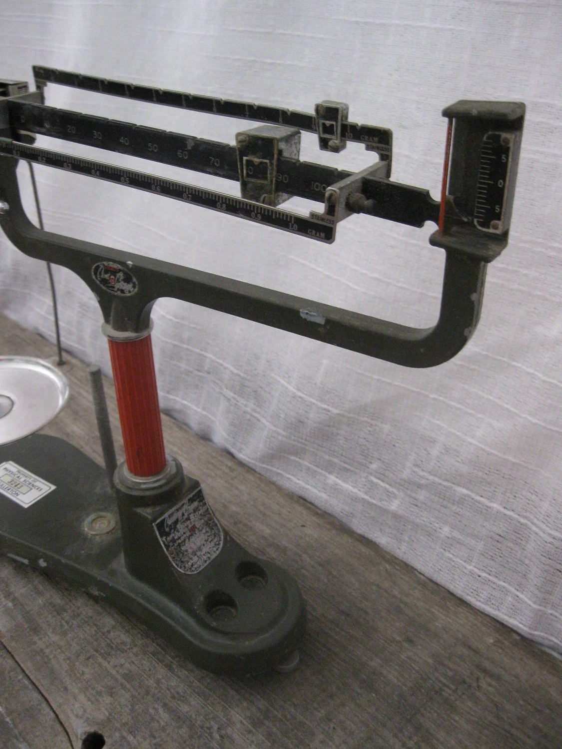 Vintage Scale Ohaus Triple Beam Balance Cent O By