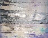 Original  Contemporary Abstract Art Silver Streams 8x10x1 by Sheri - sherischart