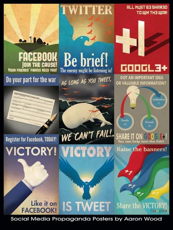 Social Media Posters by Aaron Wood