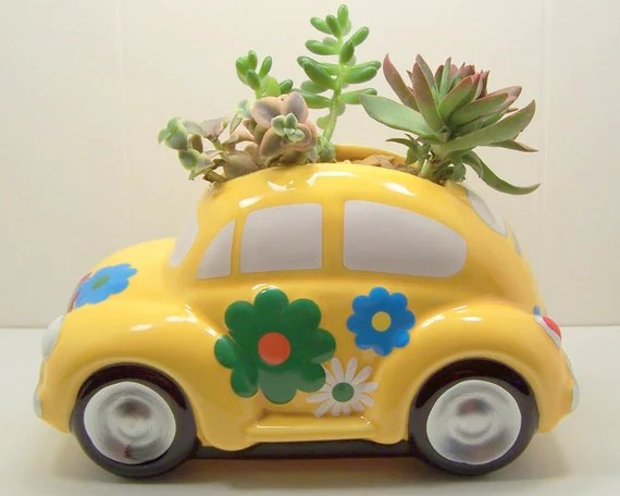 Plantador kit DIY Love Bug Só Fusca