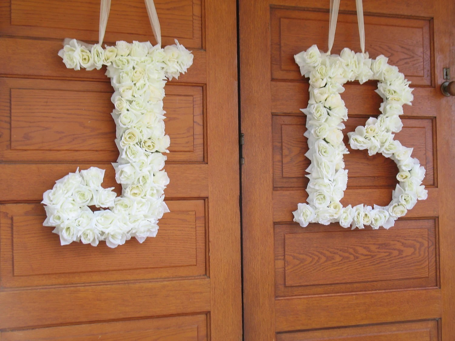 Items Similar To 1 Custom Floral Silk Letter, Wedding