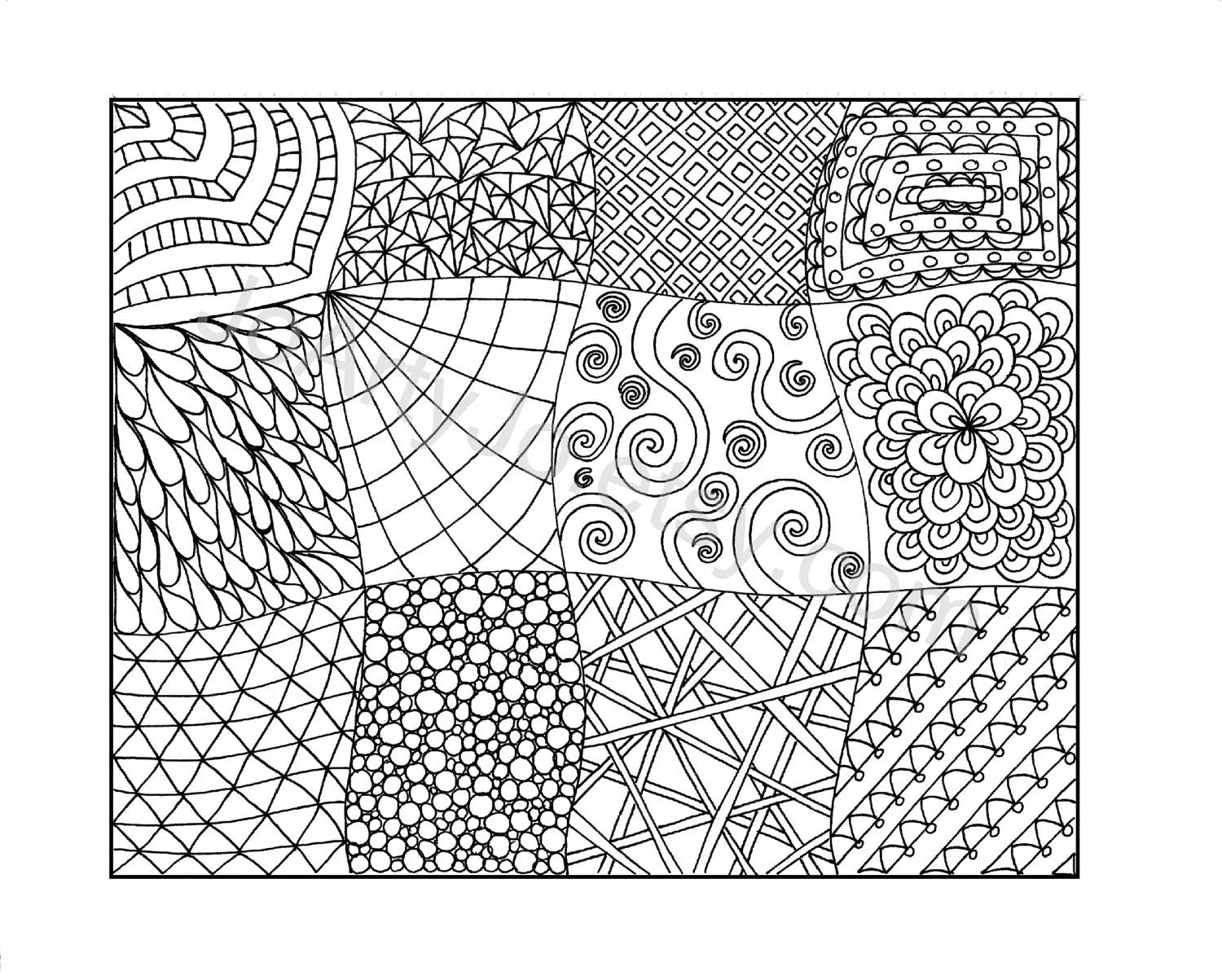 Zendoodle Coloring Page Printable Zentangle Inspired