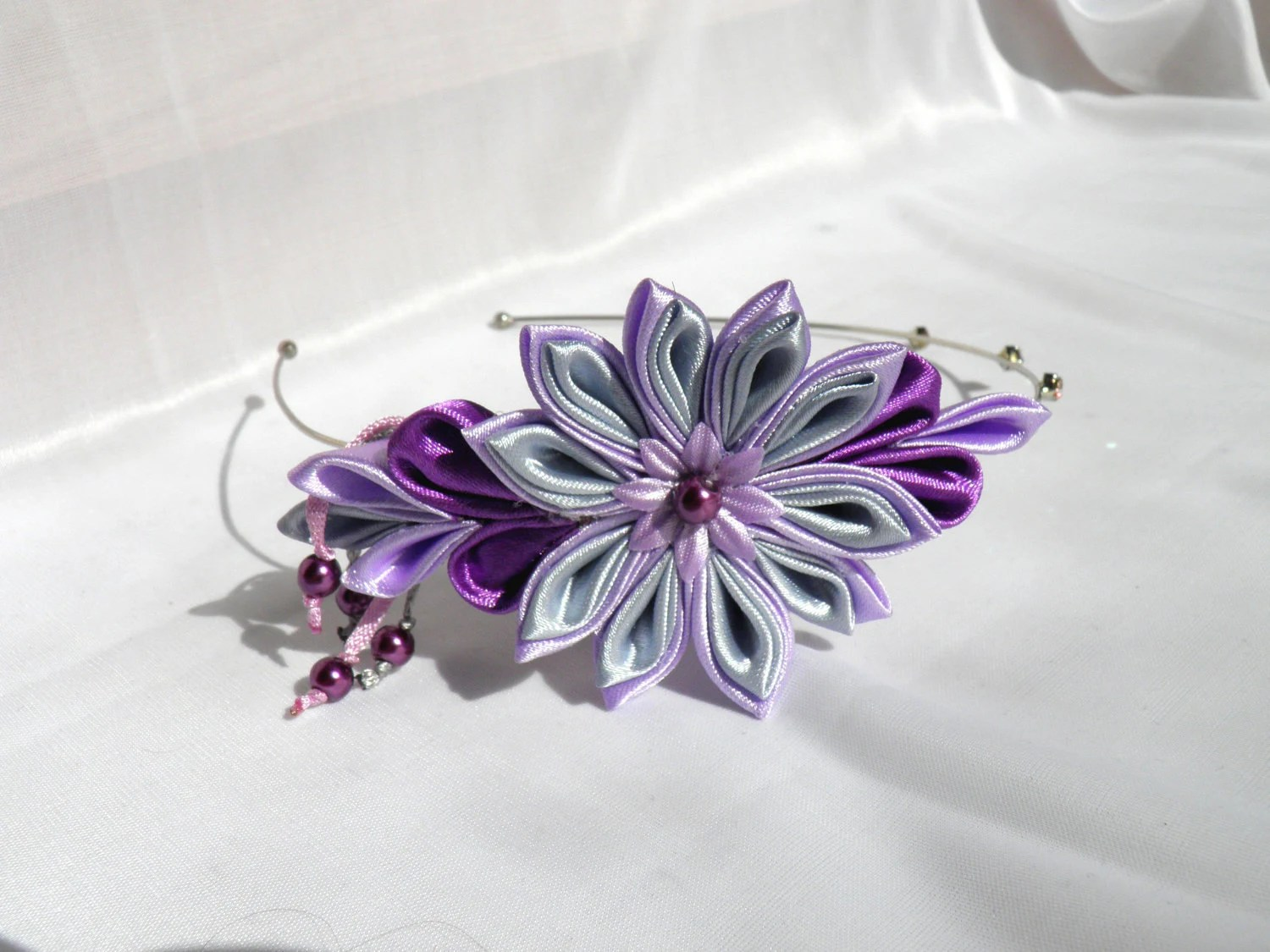 Kanzashi headband / lilac purple Lavender/ gift for girls/ gift for her / Ready to ship - Marywool