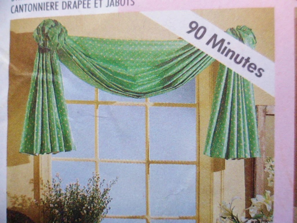 Sewing Pattern Curtains Swags Mccalls Home Dec In A Sec