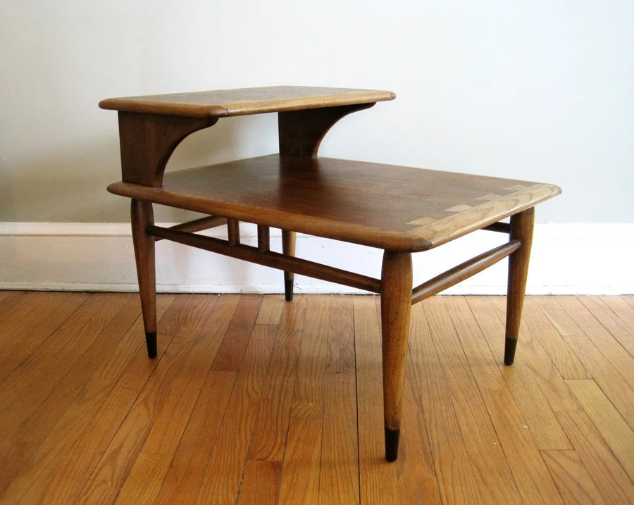 RESERVED FOR MELANIE Mid Century Lane Two Tier End Table