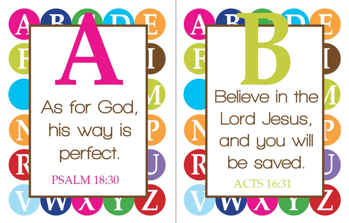 Abc Scriptures For Kids By Yellowdeskdesigns On Etsy