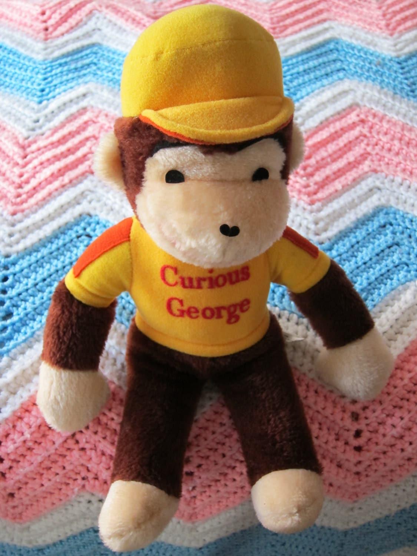 Vintage Curious George Plush Monkey Stuffed Animal
