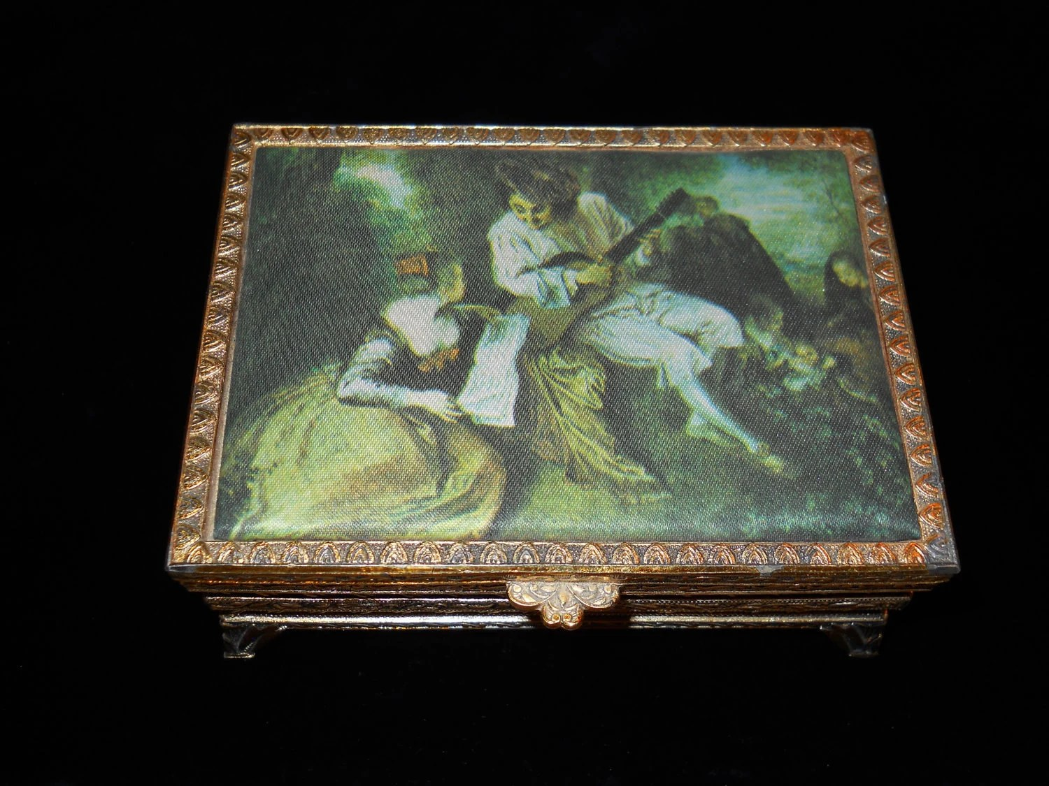 Vintage Music Box Jewelry Box Made In Japan By Bamfordbeth
