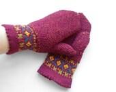 Hand Knitted Mittens - Red, Size Medium - UnlimitedCraftworks