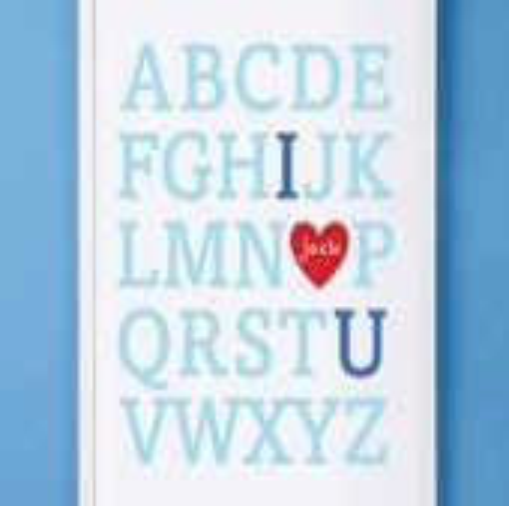 Nursery Children's Customized Alphabet Print 11x14 - mytinytotcreative