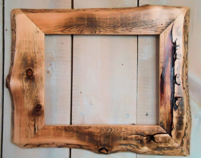 Handmade Rustic Wood Frame 11x14 Clear Poly by ModerationCorner