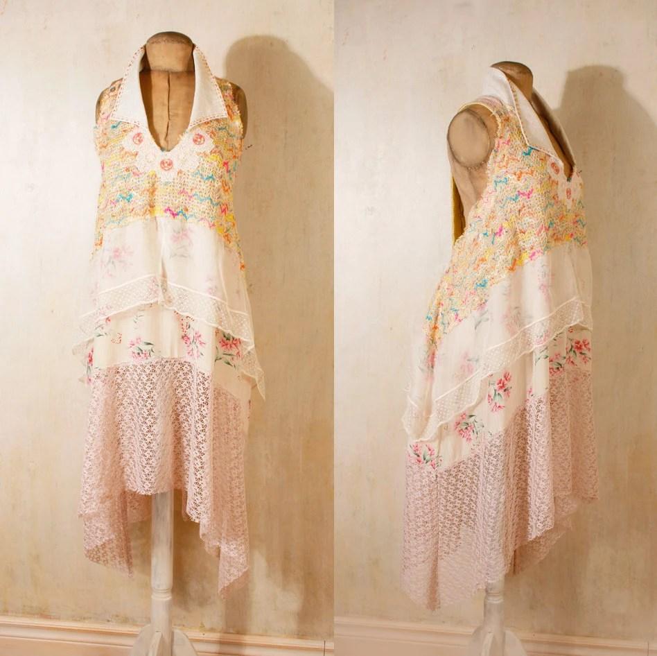 Bohemian wedding dress 1920s wedding dress Beach wedding dress Backless wedding dress Pink wedding dress Backless wedding dress