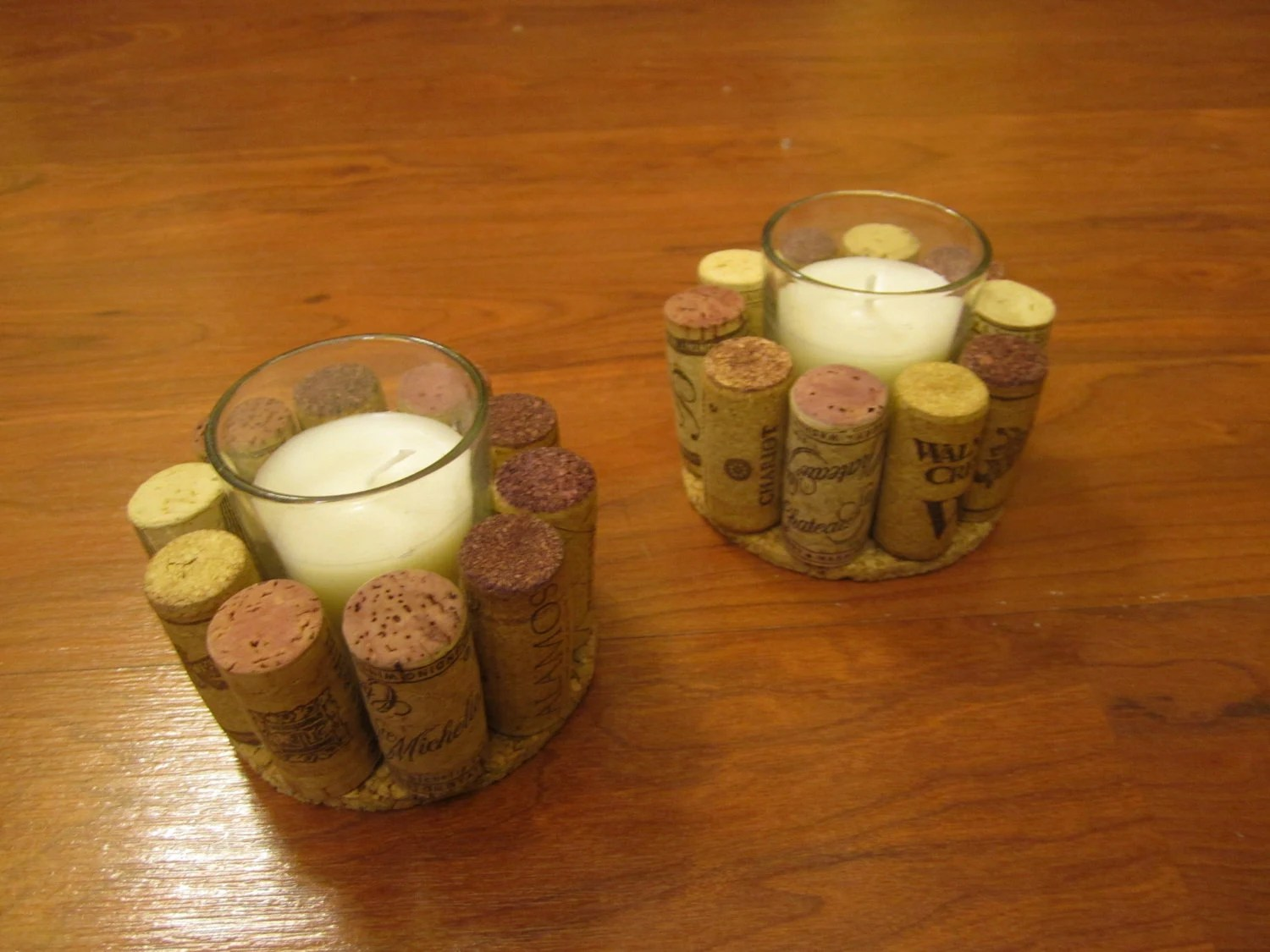 Votive Wine Cork Candles By Camiescorks On Etsy