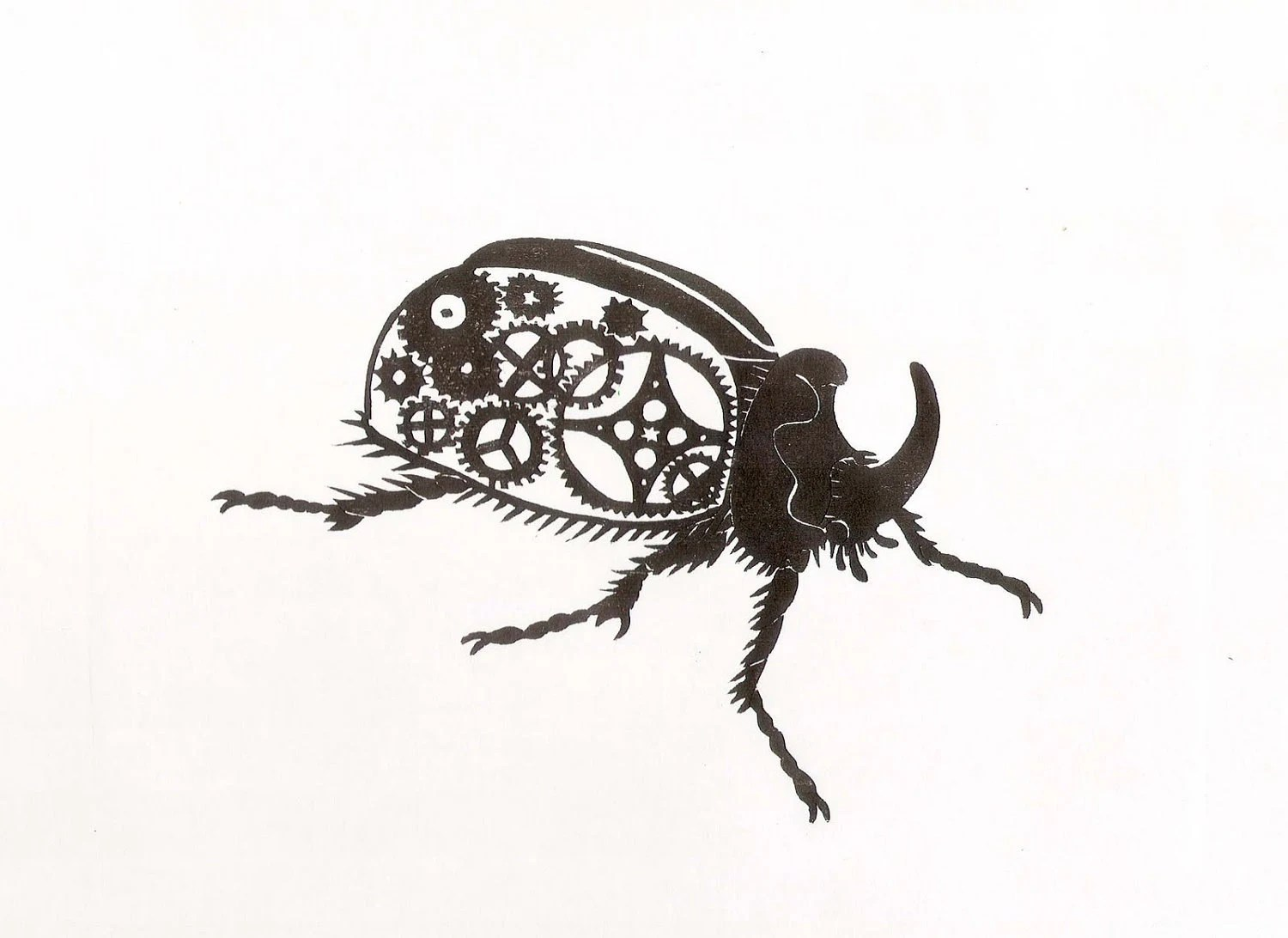 rhinoceros beetle colouring pages