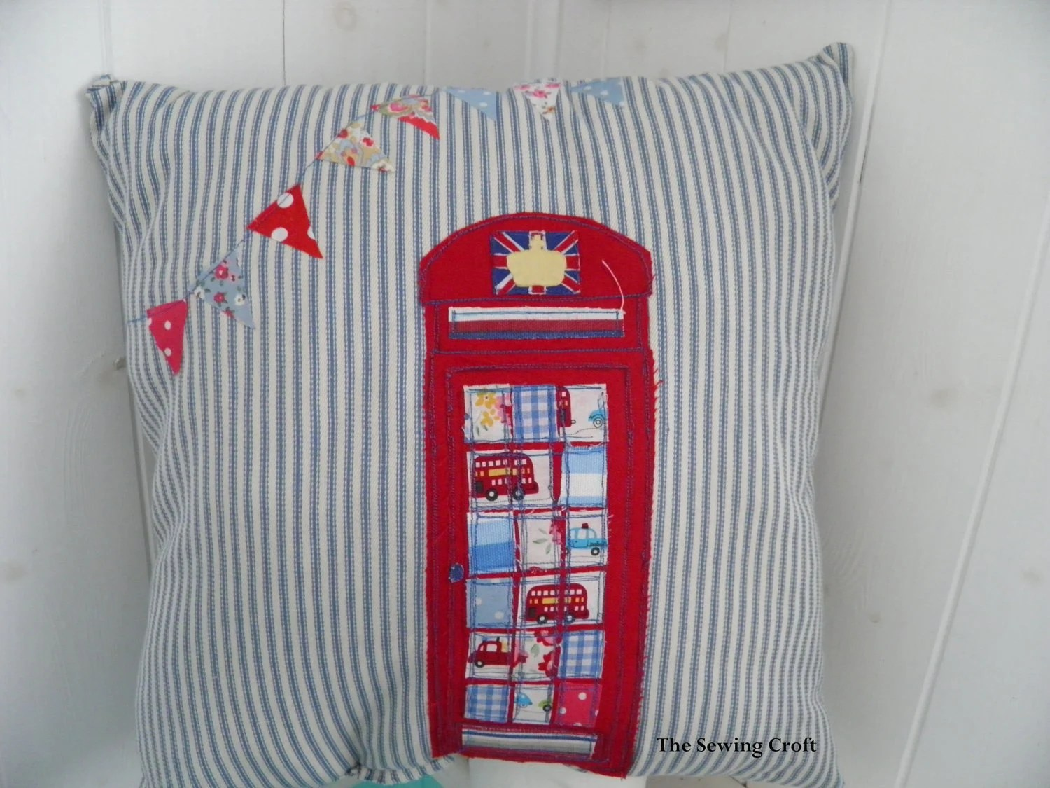 Jubilee SALE British Red Telephone Box London Jubilee Bunting UK phone box
