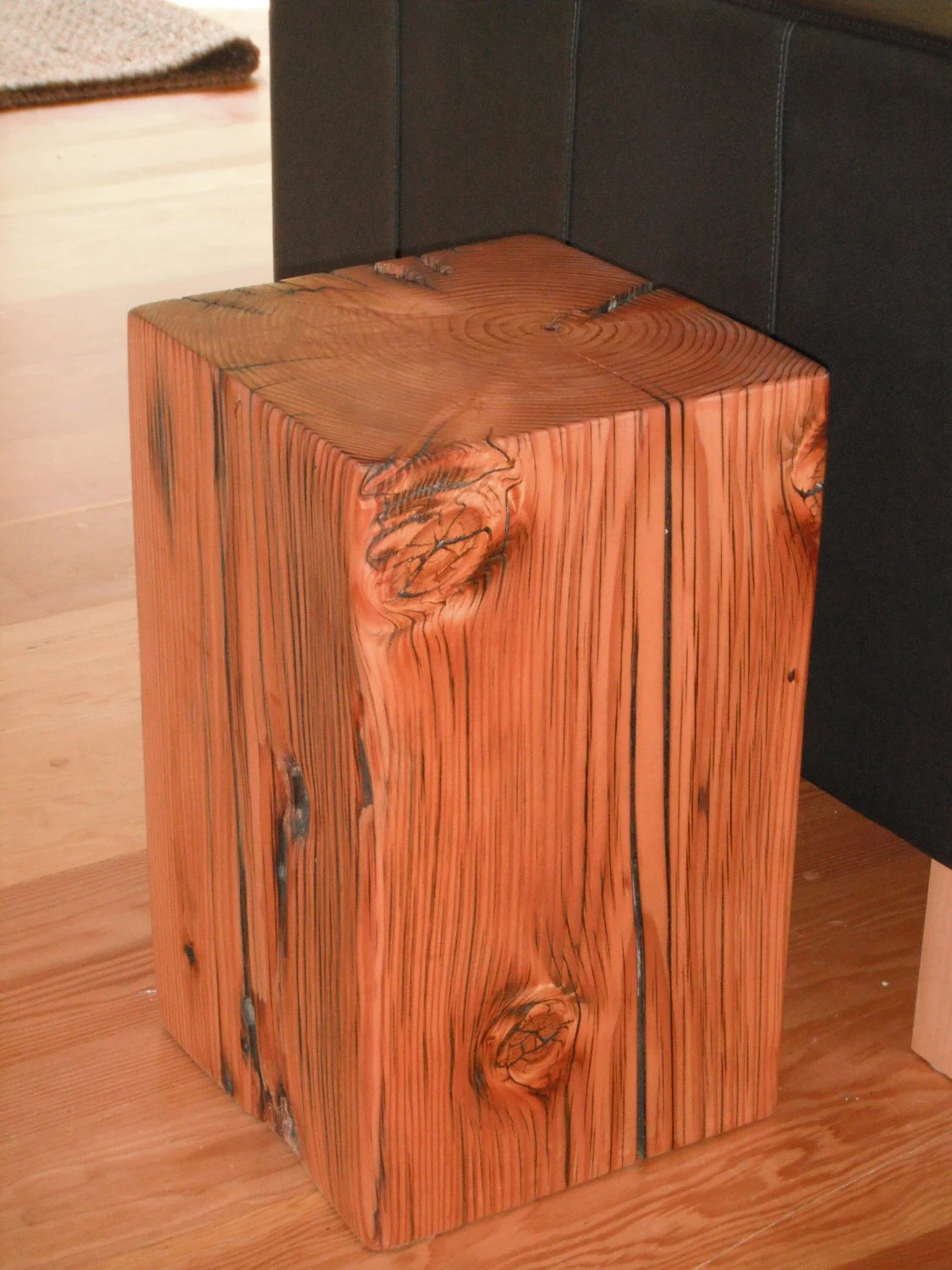 Items Similar To Old Growth Wood Pedestals Stool End