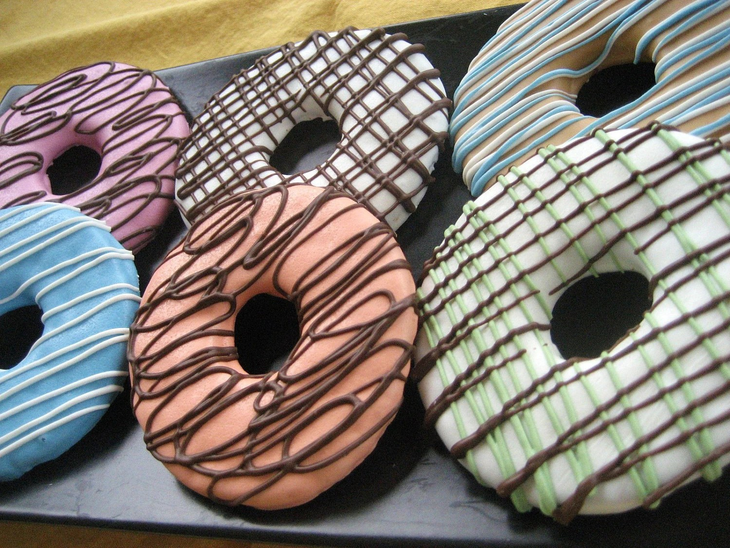 Gourmet Dog Treats - Donuts Decorated Dog Treats - TwoTailsDogBakery