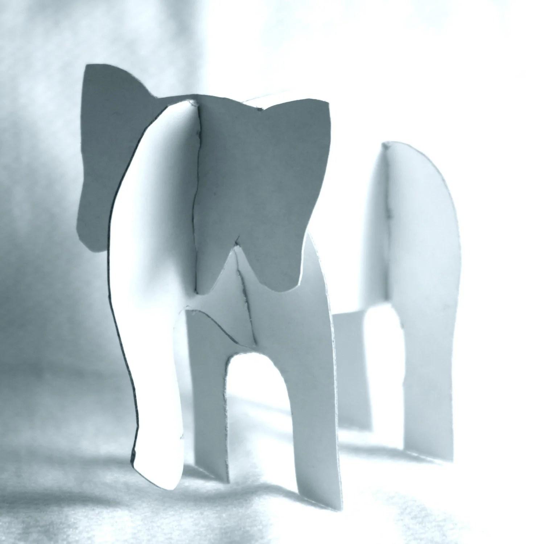 Elephant Diy Printable Template