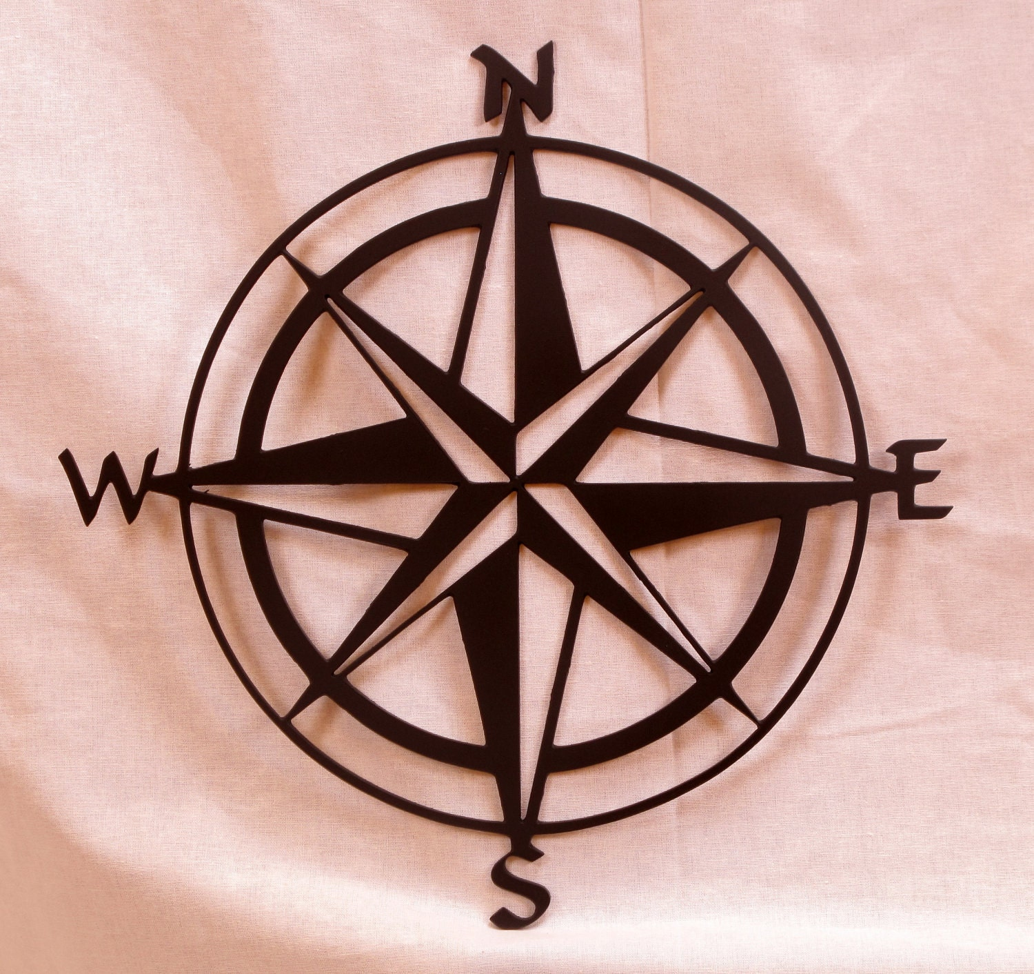 Large 20in Compass Rose Metal Wall Art By Bcmetalcraft On Etsy