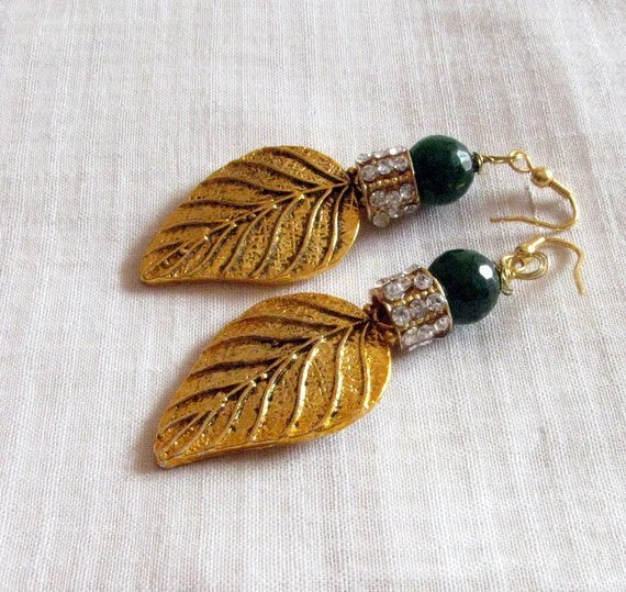 Antique Finish Earrings with Stone studded fillers and Agate - Chitrasjewelart