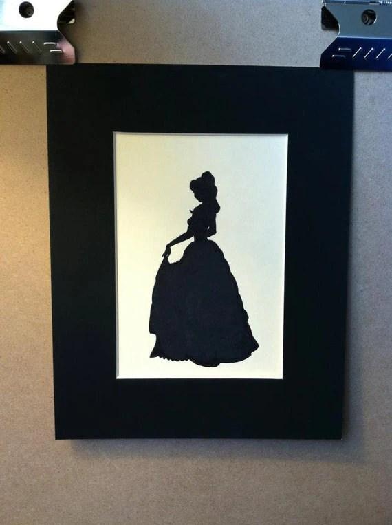 Disney Belle Silhouette