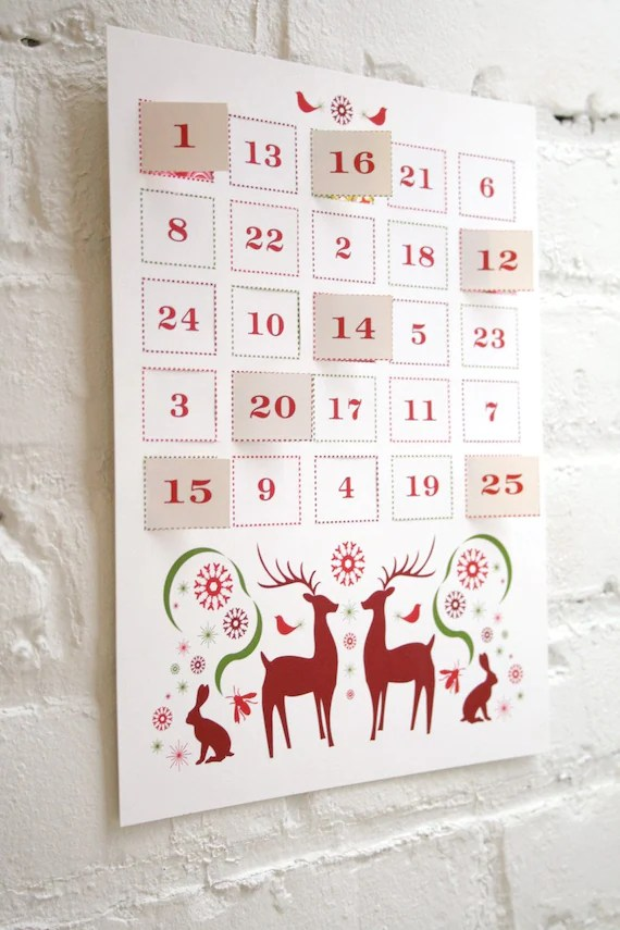 Modern Advent Calendar Printable PDF By JhillDesign On Etsy