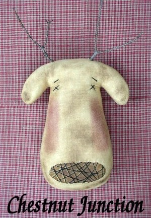 Dasher EPATTERN Primitive Country Christmas Reindeer Cloth