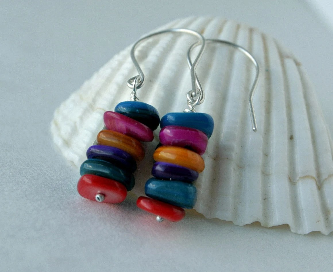 Rainbow Earrings: Judy's Designs