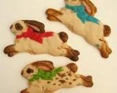 SIX Easter Bunny Molded Sugar Cookies Baked Goods - MoonLightCookieArt