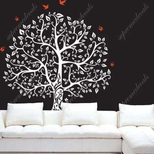 White Tree wall Decal by PopDecorsPrintArts