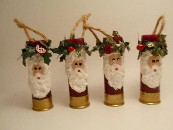 Shotgun Shell Ornament Santa By Brightideasbylorrie On Etsy