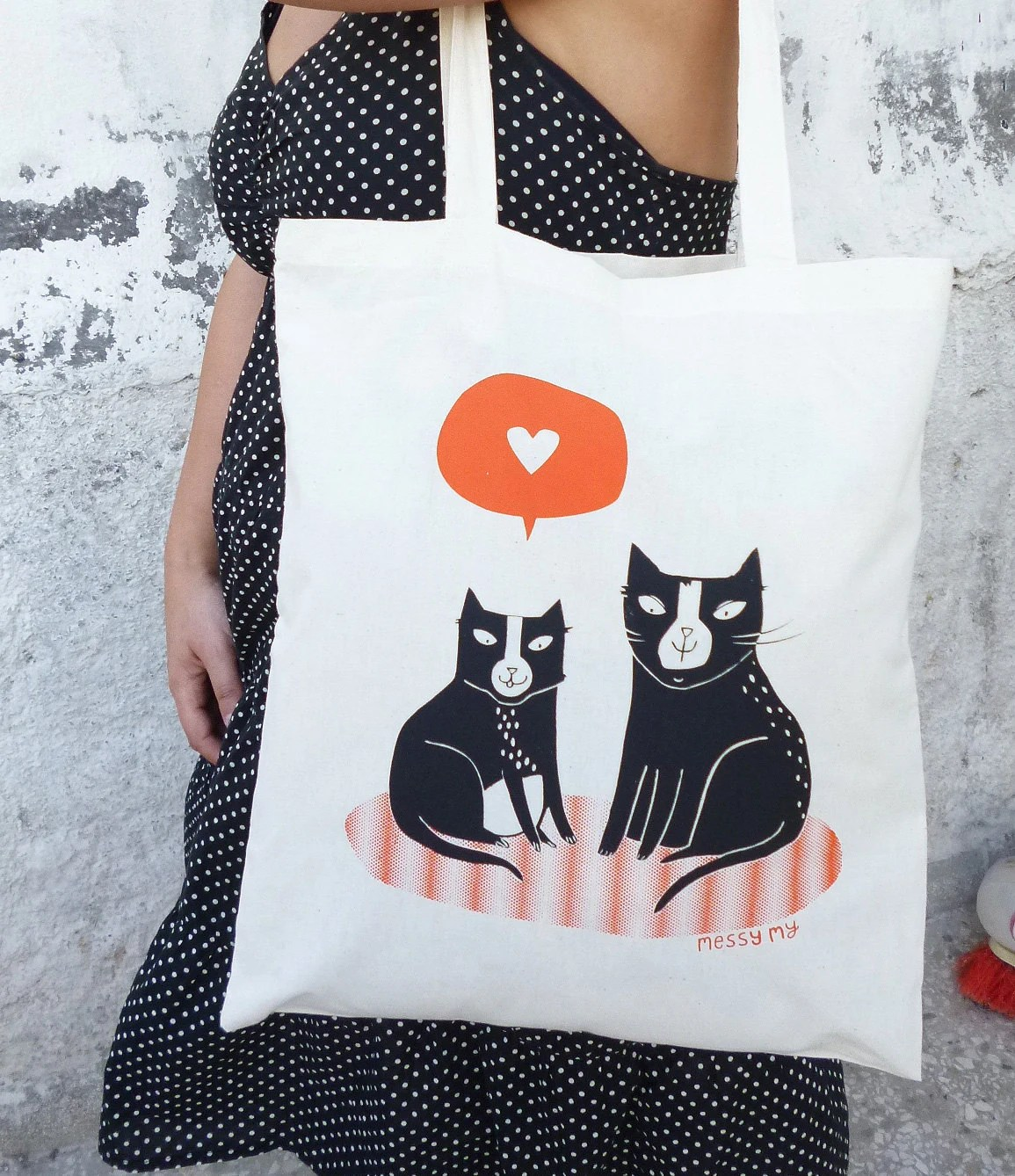 Love Cats Tote bag - (limited edition) - messymai
