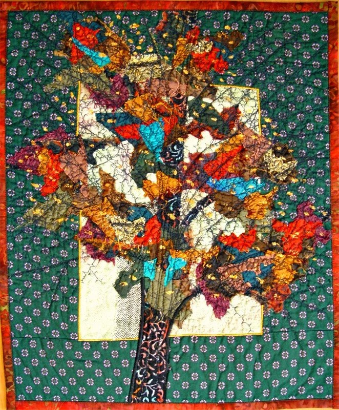 Art Quilt - Colorful tree, Home Decor, Wall Decor