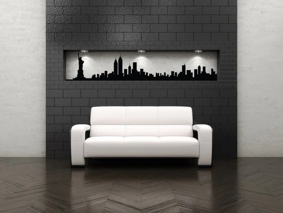 New York Skyline Wall Decal by VinylWallAccents