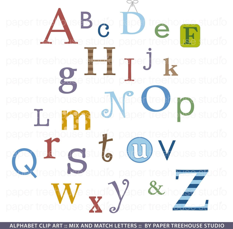 Sale Clip Art Graphic Alphabet Set Abcs Letters A