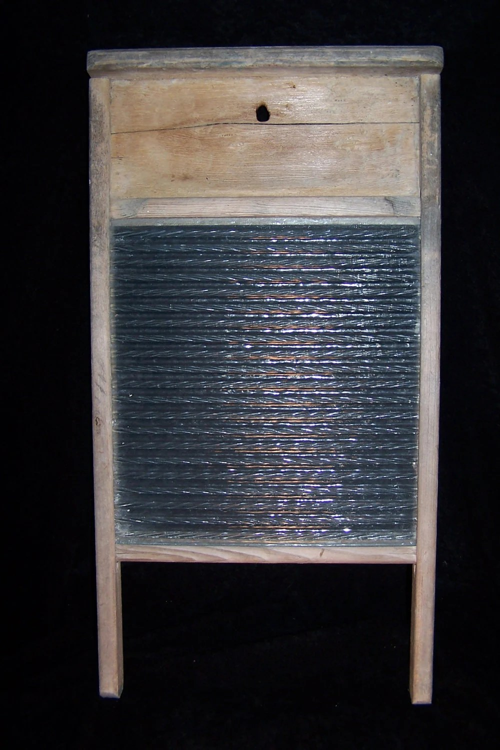 VINTAGE WASHBOARD Antique Glass Washer Board Columbia Brand