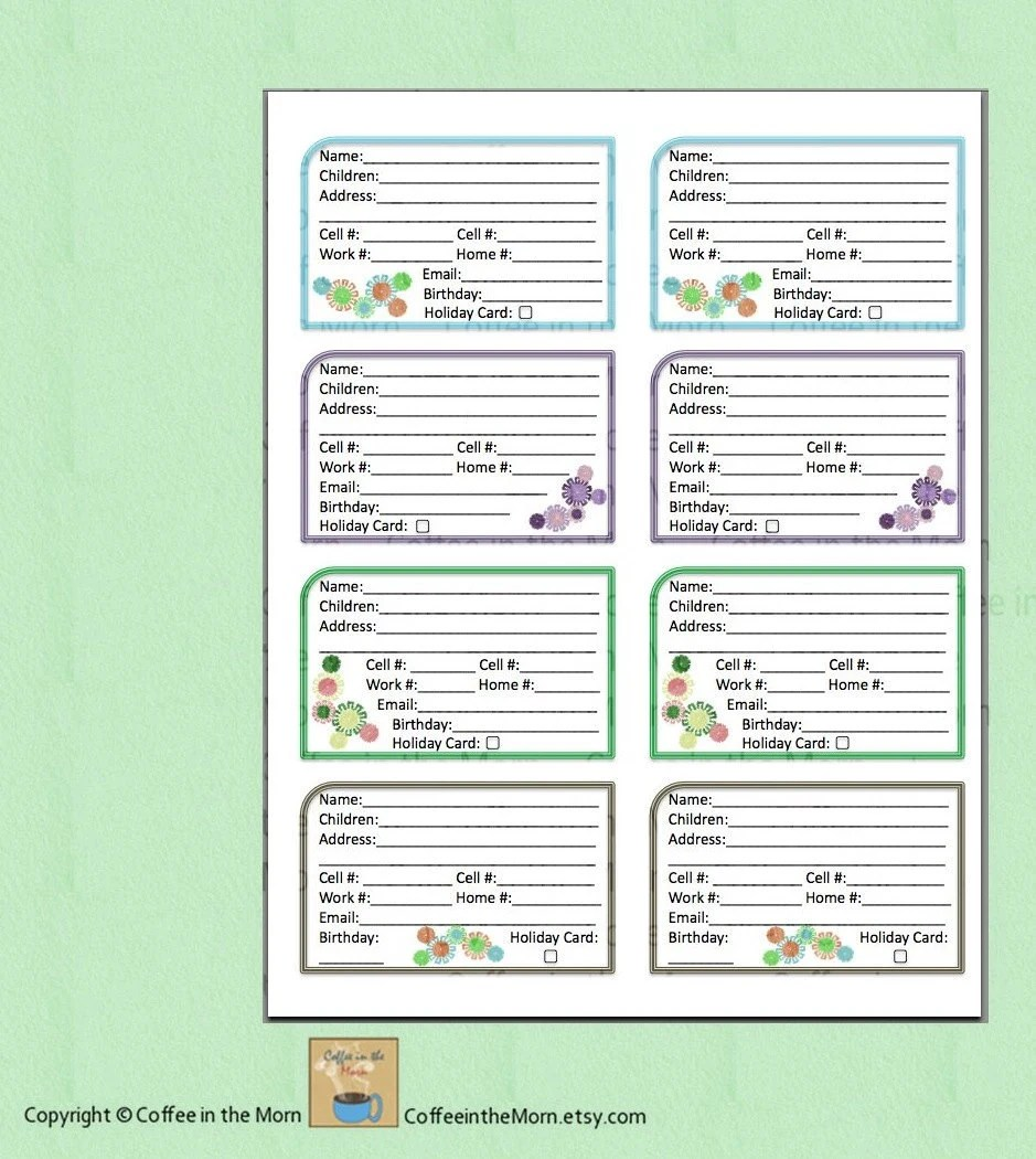 Contact Book Template problem log template log templates – Contact Book Template