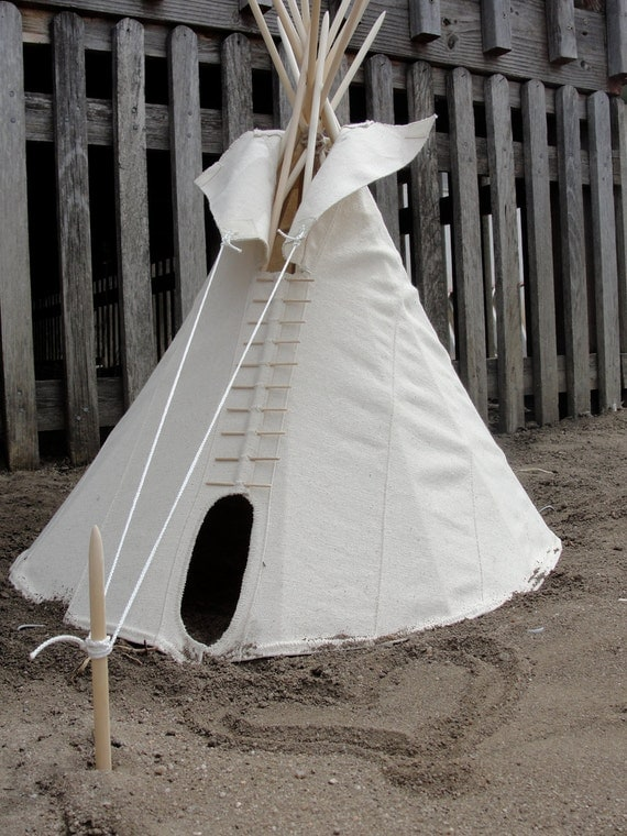 """Real 18"""" Crow Tipi Tepee Teepee with poles, rope kit, and setup instructions - LIMITED EDITION"""