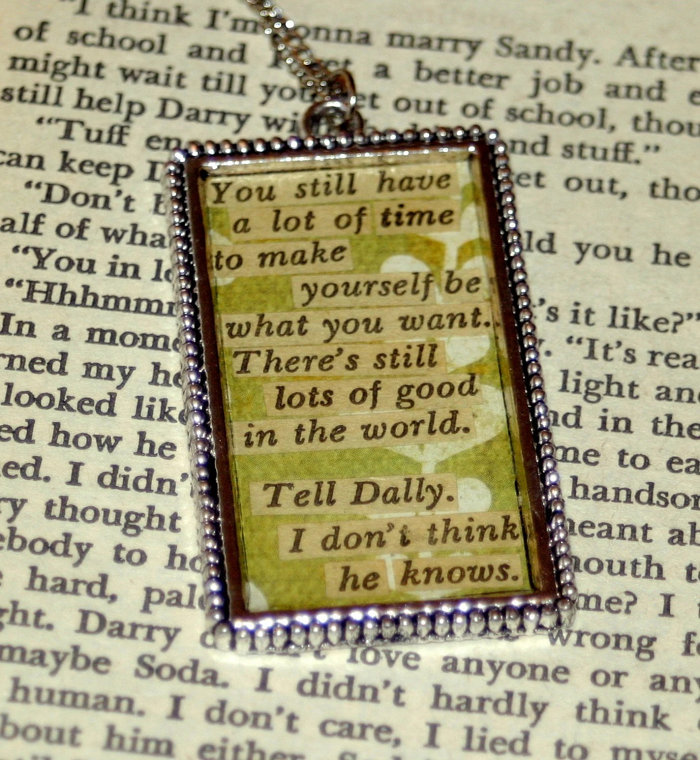 Custom Literary Quote Necklace The Outsiders Reserved