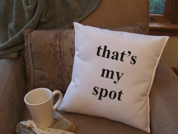 Typography Decor Typographic Type Word Art That's My Spot Sheldon Cooper Etsy Graphic Throw Pillow Case Cover