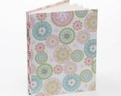 Pink and green journal, notebook, beaded journal - BookgirlsStudio