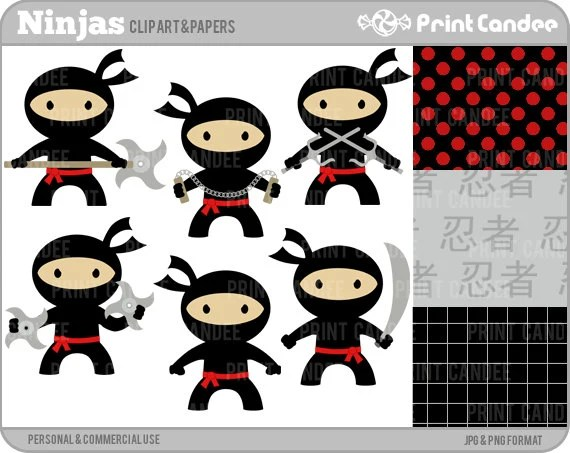70 OFF SALE Ninjas Digital Clip Art Personal And