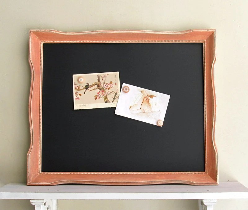 Coral Wedding Chalkboard Orange Sign MAGNETIC Wedding Decoration Peach Home Decor Distressed Black Board Kitchen Bulletin Board Memo Board