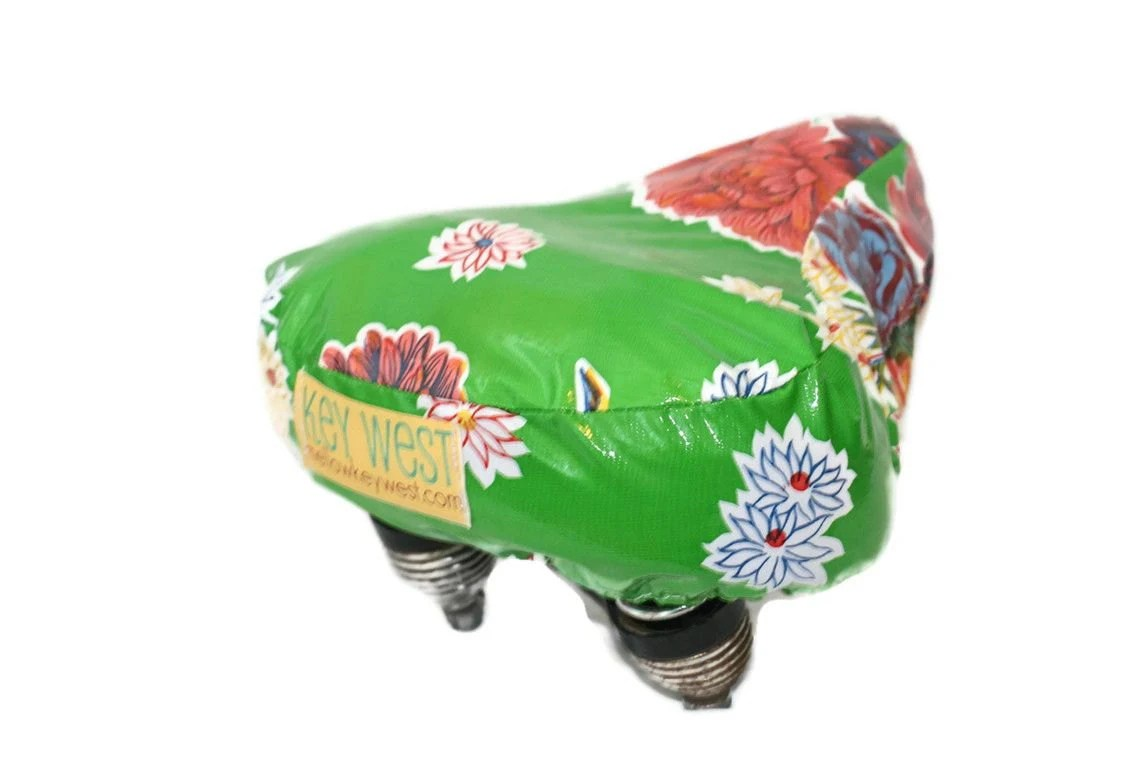 Water Resistant Oilcloth Bicycle Seat Cover - mellowvelo