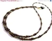 Black Friday SALE Brown and Bronze Eyeglass Chain Lanyard Glasses Necklace - MegansBeadedDesigns