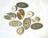 Vintage Oval Watch Faces in Assorted Sizes for Altered Art Steampunk Collage Jewelry Making - Collection 26 - ReminiscencePapers