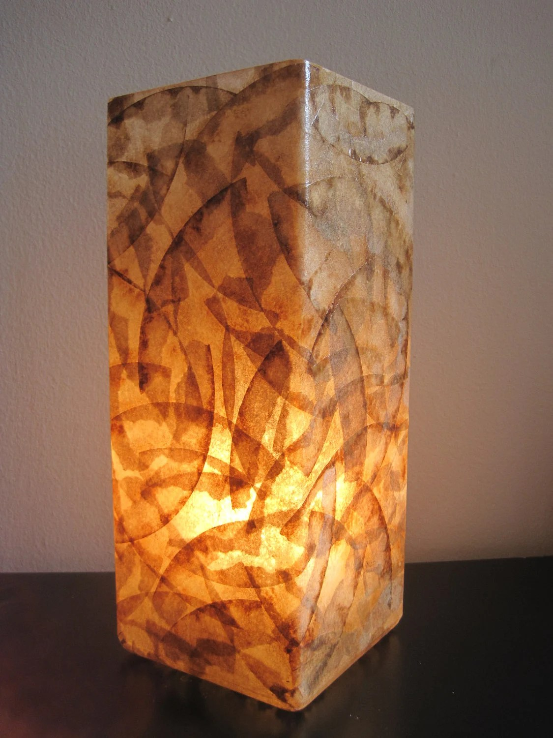 COFFEE FILTER ART Glass Lamp Table Lamp Table Light Unique